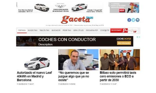 Imagen de preview del periódico digital de la Gaceta del Taxi