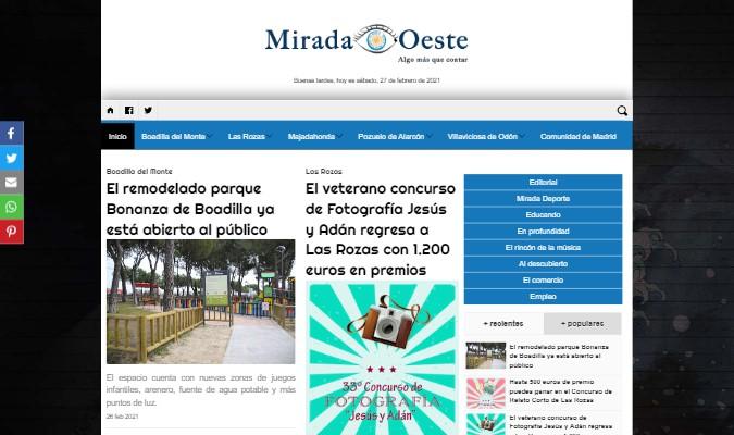 Imagen de preview del periódico digital Mirada Oeste