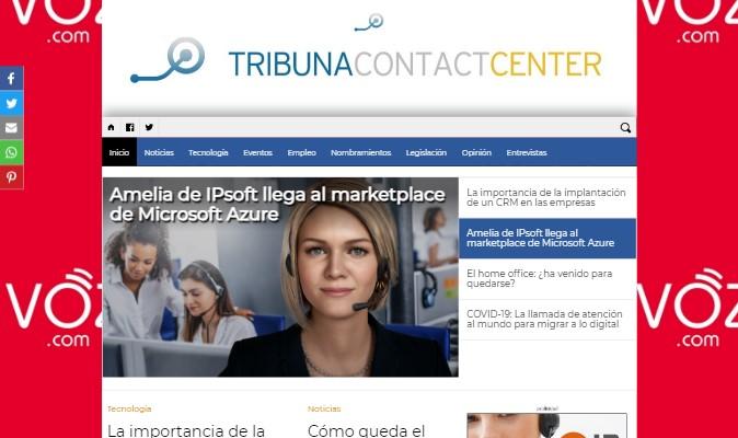 Imagen de preview del periódico digital Tribuna Contact Center